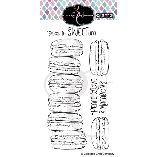 Colorado Craft Company Big and Bold SLIMLINE MACARONS Clear Stamps BB405 Preview Image