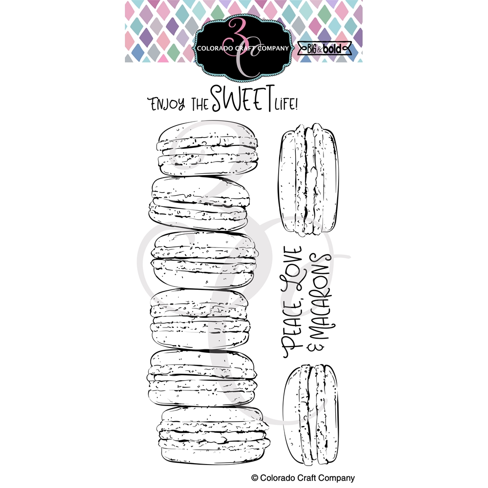 Colorado Craft Company Big and Bold SLIMLINE MACARONS Clear Stamps BB405 zoom image