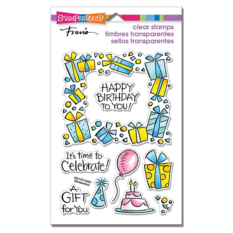 Stampendous Clear Stamps GIFT FRAME ssc1373 zoom image