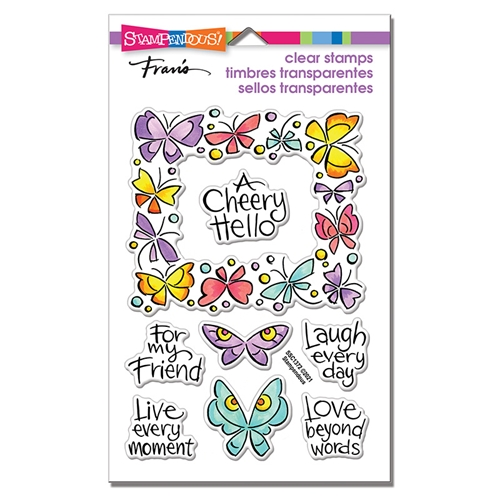 Stampendous Clear Stamps WINGED FRAME ssc1372 Preview Image