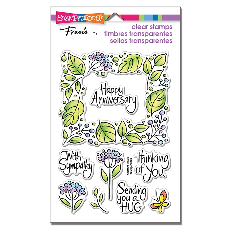 Stampendous Clear Stamps LEAFY FRAME ssc1371 zoom image