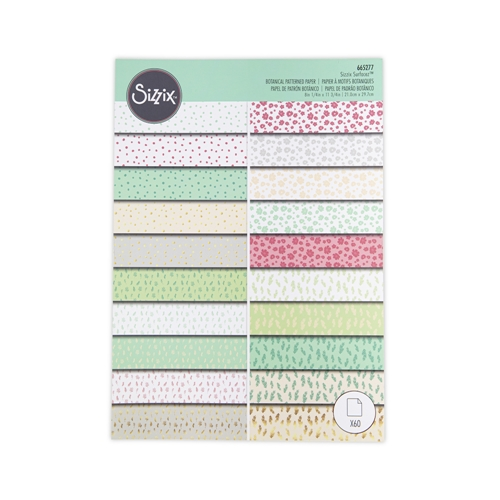 Sizzix BOTANICALS Surfacez Patterned Cardstock 665277 Preview Image