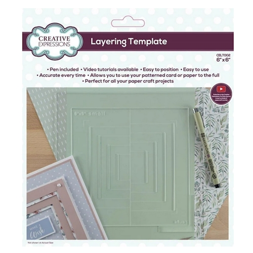 Creative Expressions LAYERING TEMPLATE 6x6 Tool celt002 Preview Image