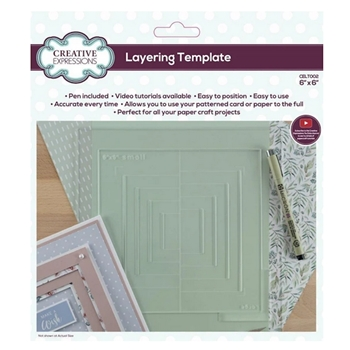 Creative Expressions LAYERING TEMPLATE 6x6 Tool celt002