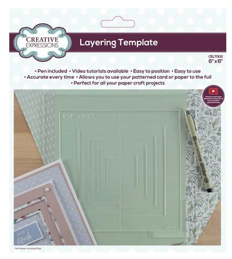 Creative Expressions LAYERING TEMPLATE 6x6 Tool celt002 zoom image