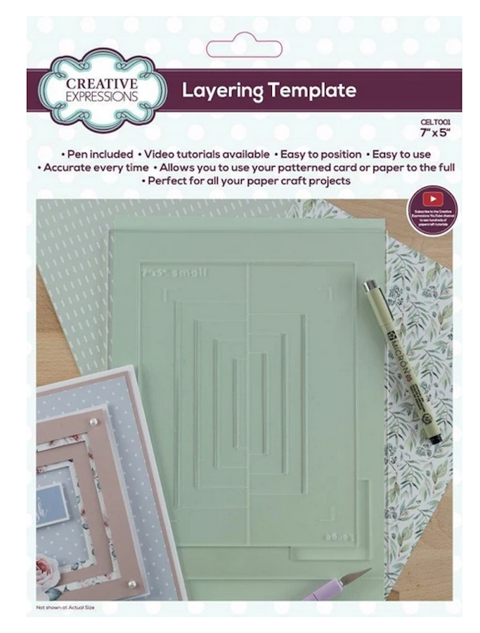 Creative Expressions LAYERING TEMPLATE 7x5 Tool celt001 zoom image