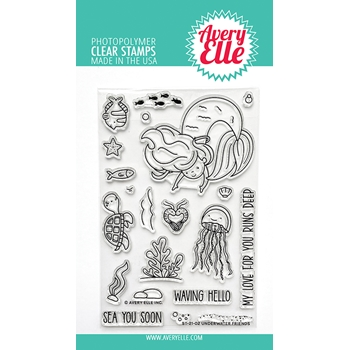 Avery Elle Clear Stamps UNDERWATER FRIENDS ST 21 02