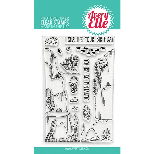 Avery Elle Clear Stamps UNDERWATER BACKGROUND BUILDER ST 21 03 Preview Image