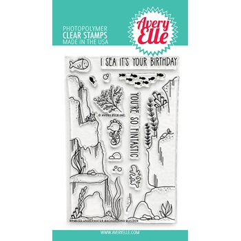Avery Elle Clear Stamps UNDERWATER BACKGROUND BUILDER ST 21 03