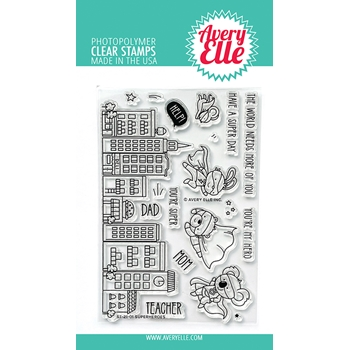Avery Elle Clear Stamps SUPERHEROES ST 21 01