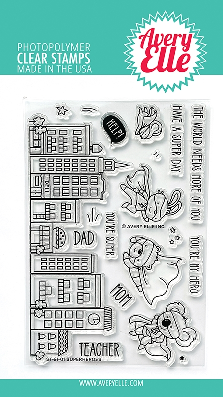 Avery Elle Clear Stamps SUPERHEROES ST 21 01 zoom image