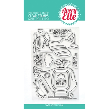 Avery Elle Clear Stamps PEEK A BOO FLIGHT ST 21 01
