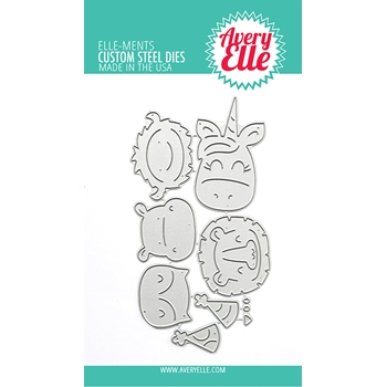 Avery Elle Steel Dies PEEK A BOO BIRTHDAY TAG TOPPER D 10 02