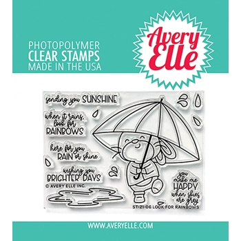 Avery Elle Clear Stamps LOOK FOR RAINBOWS ST 21 06