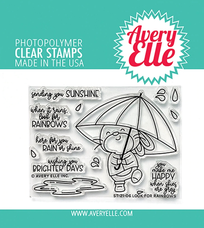 Avery Elle Clear Stamps LOOK FOR RAINBOWS ST 21 06 zoom image