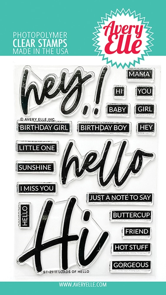 Avery Elle Clear Stamps LOADS OF HELLO ST 21 11  zoom image