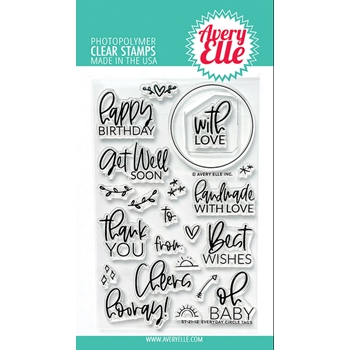 Avery Elle Clear Stamps EVERYDAY CIRCLE TAGS ST 21 12