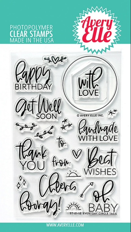 Avery Elle Clear Stamps EVERYDAY CIRCLE TAGS ST 21 12 zoom image