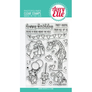 Avery Elle Clear Stamps A HEAD ABOVE ST 21 04