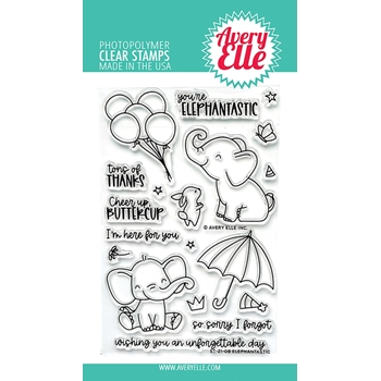 Avery Elle Clear Stamps ELEPHANTASTIC ST 21 08