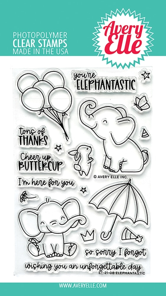 Avery Elle Clear Stamps ELEPHANTASTIC ST 21 08 zoom image