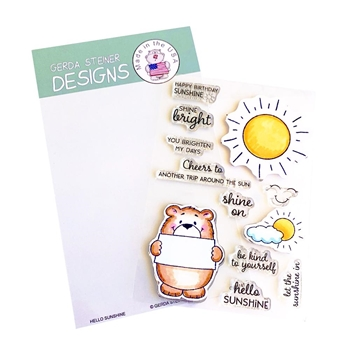 Gerda Steiner Designs HELLO SUNSHINE Clear Stamp Set gsd741