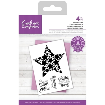 Crafter's Companion SHINING STAR Clear Stamp Set ccstpshstar