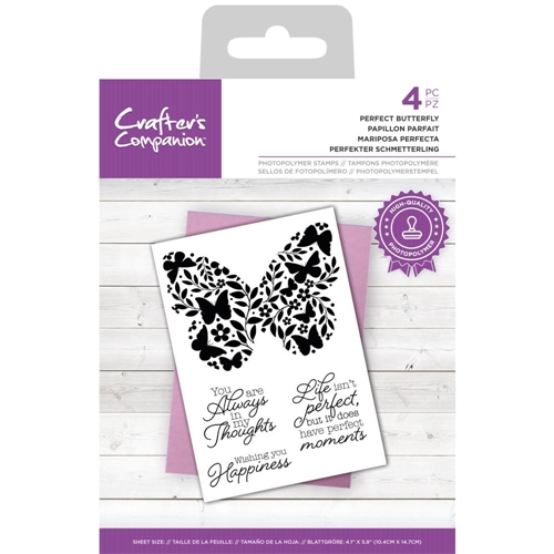 Crafter's Companion PERFECT BUTTERFLY Clear Stamp Set ccstpperbut Preview Image