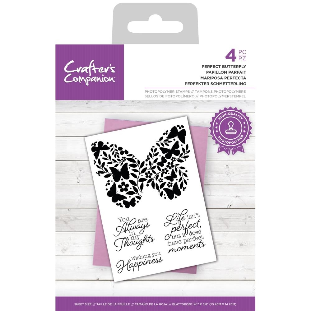 Crafter's Companion PERFECT BUTTERFLY Clear Stamp Set ccstpperbut zoom image