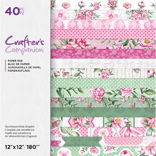 Crafter's Companion QUINTESSENTIALLY ENGLISH 12 x 12 Paper Pad ccpad12queng Preview Image