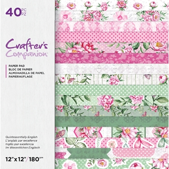 Crafter's Companion QUINTESSENTIALLY ENGLISH 12 x 12 Paper Pad ccpad12queng