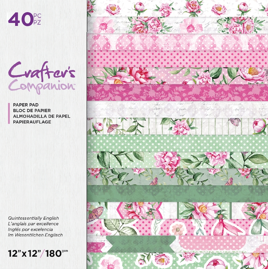 Crafter's Companion QUINTESSENTIALLY ENGLISH 12 x 12 Paper Pad ccpad12queng zoom image