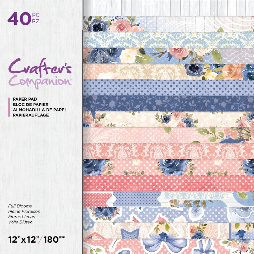 Crafter's Companion FULL BLOOMS 12 x 12 Paper Pad ccpad12fublo zoom image