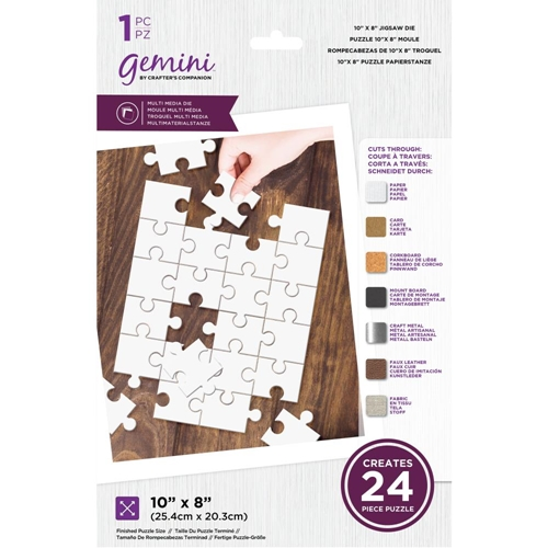 Gemini 10 X 8 MULTIMEDIA JIGSAW Die Set gemmmdjig48 Preview Image