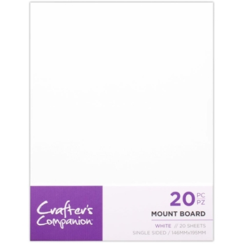 Crafter's Companion WHITE MOUNT BOARD ccmountw20