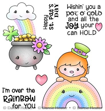 Darcie's OVER THE RAINBOW Clear Stamp Set pol486 Preview Image