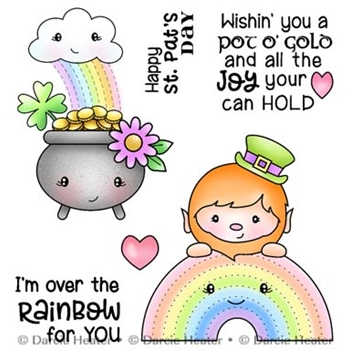 Darcie's OVER THE RAINBOW Clear Stamp Set pol486