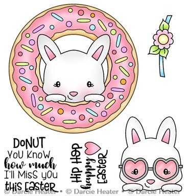 Darcie's DONUT MISS EASTER Clear Stamp Set pol488 Preview Image