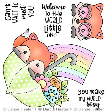 Darcie's WELCOME LITTLE ONE Clear Stamp Set pol489 Preview Image