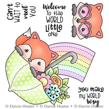 Darcie's WELCOME LITTLE ONE Clear Stamp Set pol489