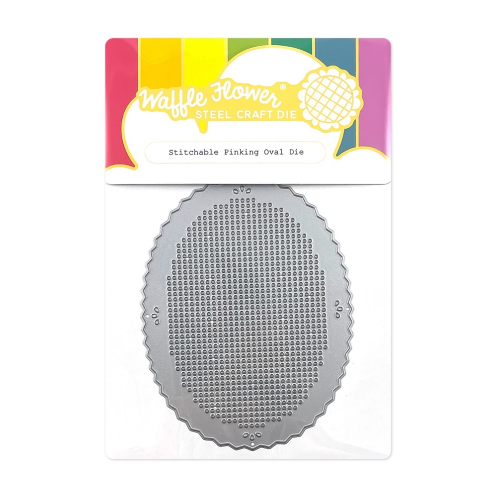 Waffle Flower STITCHABLE PINKING OVAL Dies 420536 zoom image