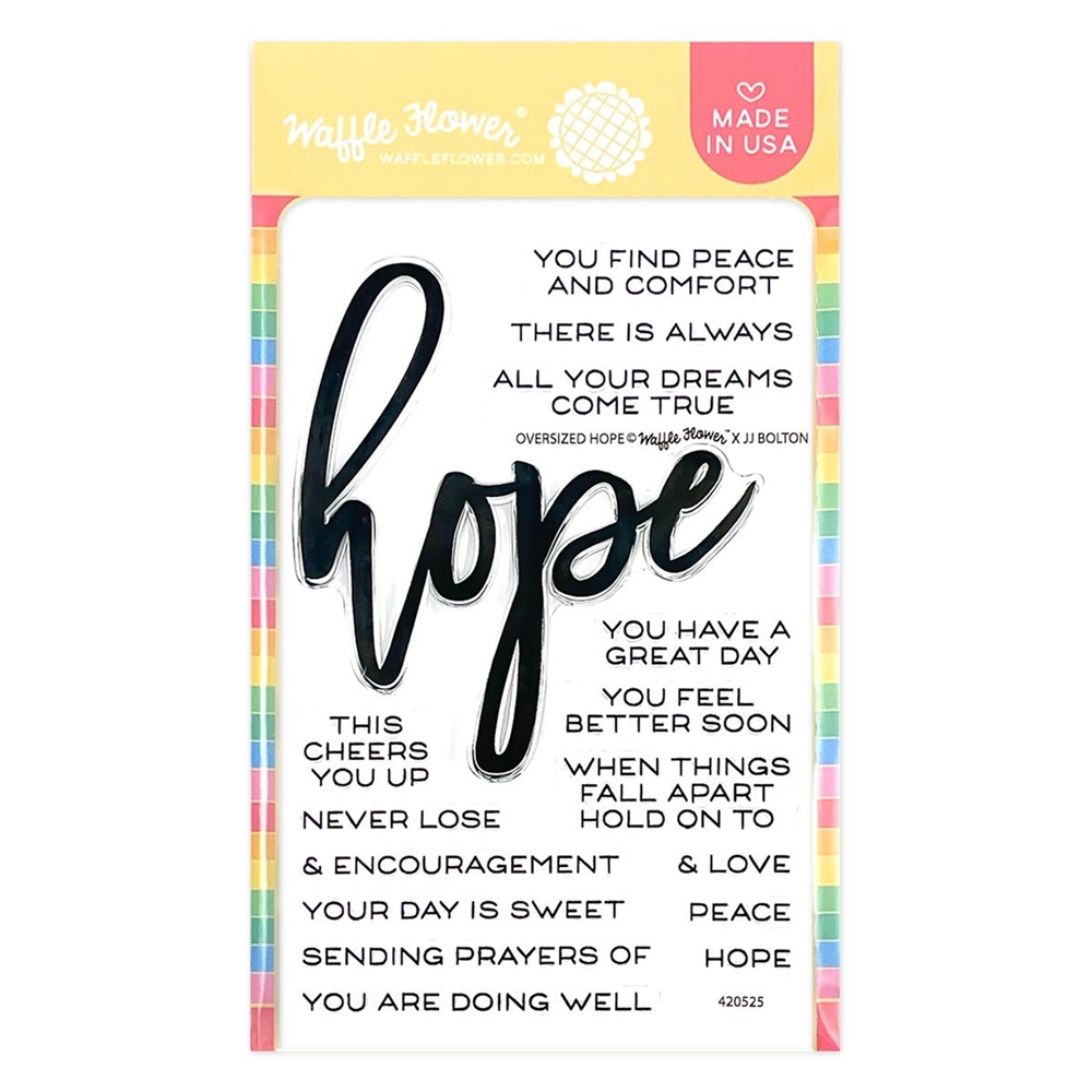 Waffle Flower OVERSIZED HOPE Clear Stamps 420525 zoom image