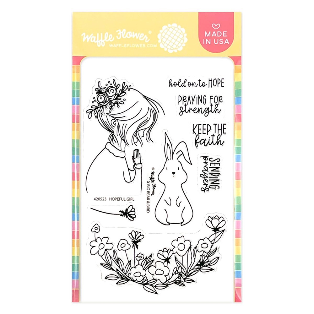Waffle Flower HOPEFUL GIRL Clear Stamps 420523 zoom image