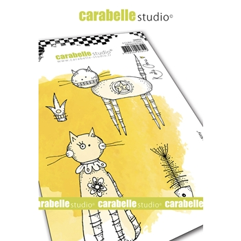 Carabelle Studio HERE KITTY KITTY Cling Stamps sa60521