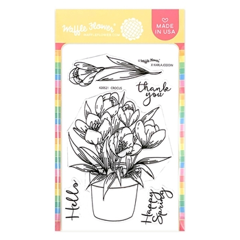 Waffle Flower CROCUS Clear Stamps 420521