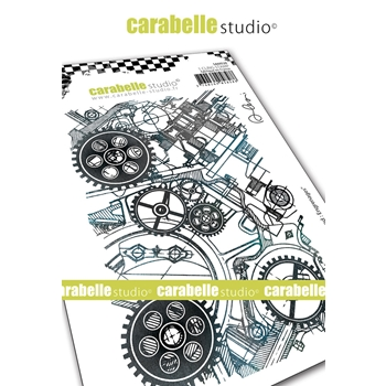 Carabelle Studio GEARS Cling Stamp sa60528