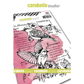 Carabelle Studio FIELD BIRD 1 Cling Stamp sa60532