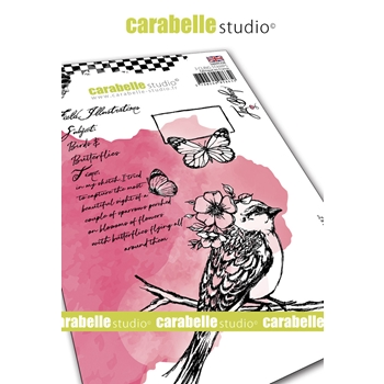 Carabelle Studio FIELD BIRD 2 Cling Stamps sa60533e