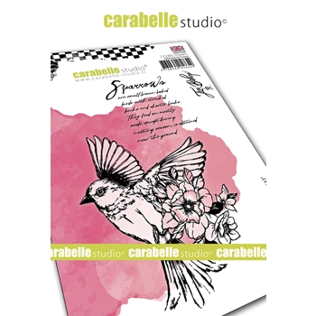 Carabelle Studio FIELD BIRD 3 Cling Stamps sa60534e