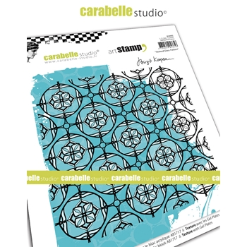 Carabelle Studio STAINED GLASS PATTERN Cling Stamp sc60003